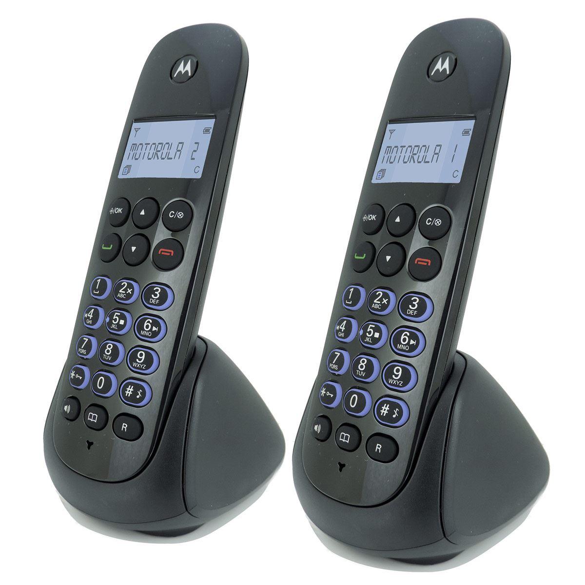 Teléfono de Casa Dúo M750-2 Negro Motorola