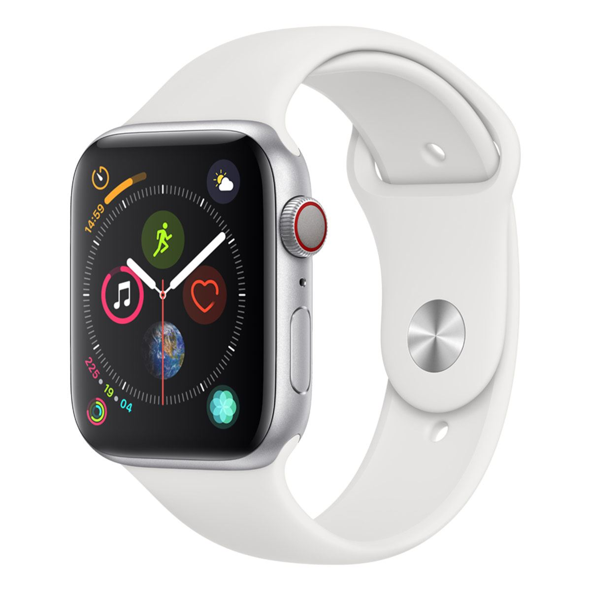 Apple Watch S5 44 mm Plata con Correa Blanca