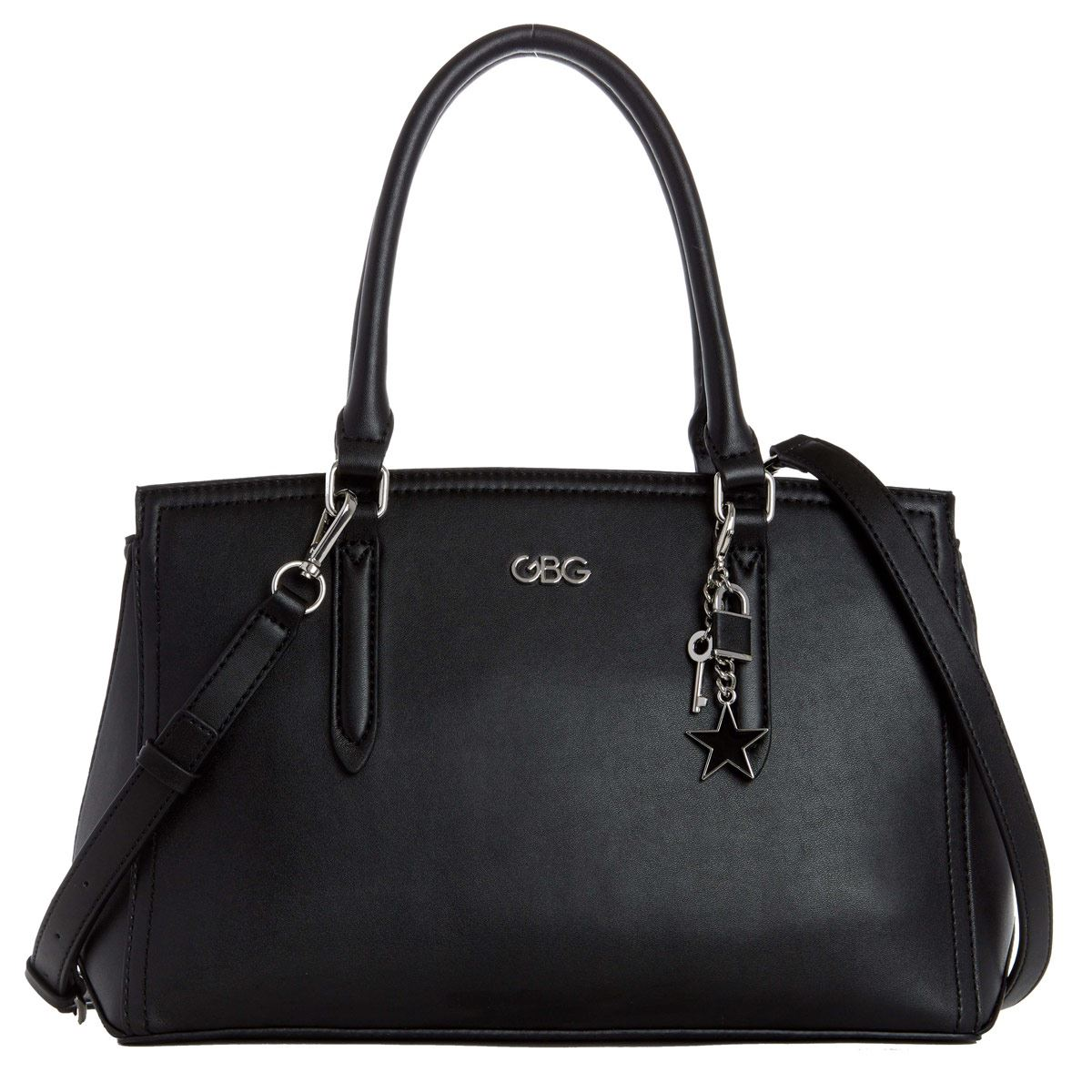 Bolso G By Guess Pacific Coast satchel  negro