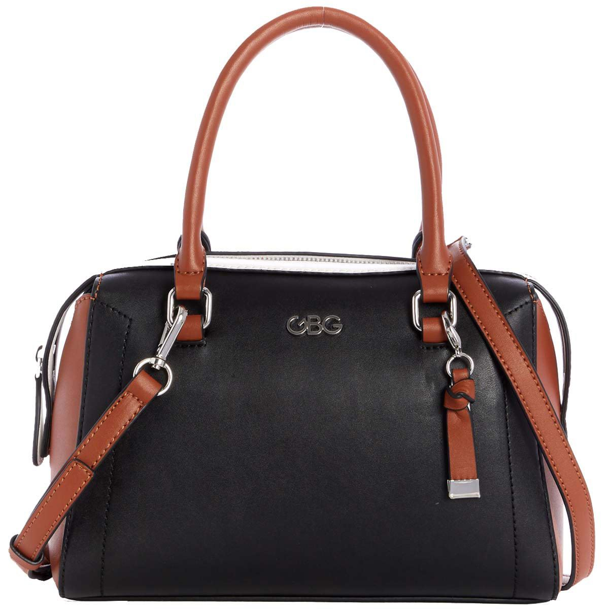 Bolso G By Guess Minnie satchel  negro multi