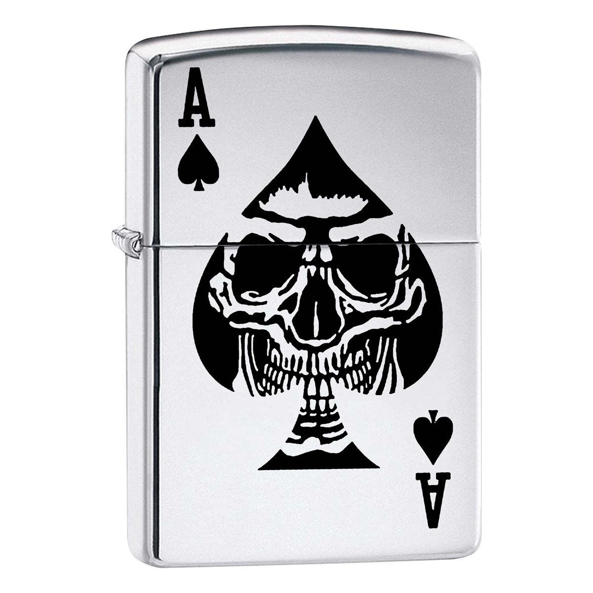 Encendedor ZIPPO Fall Price Fighter As Negro Calavera