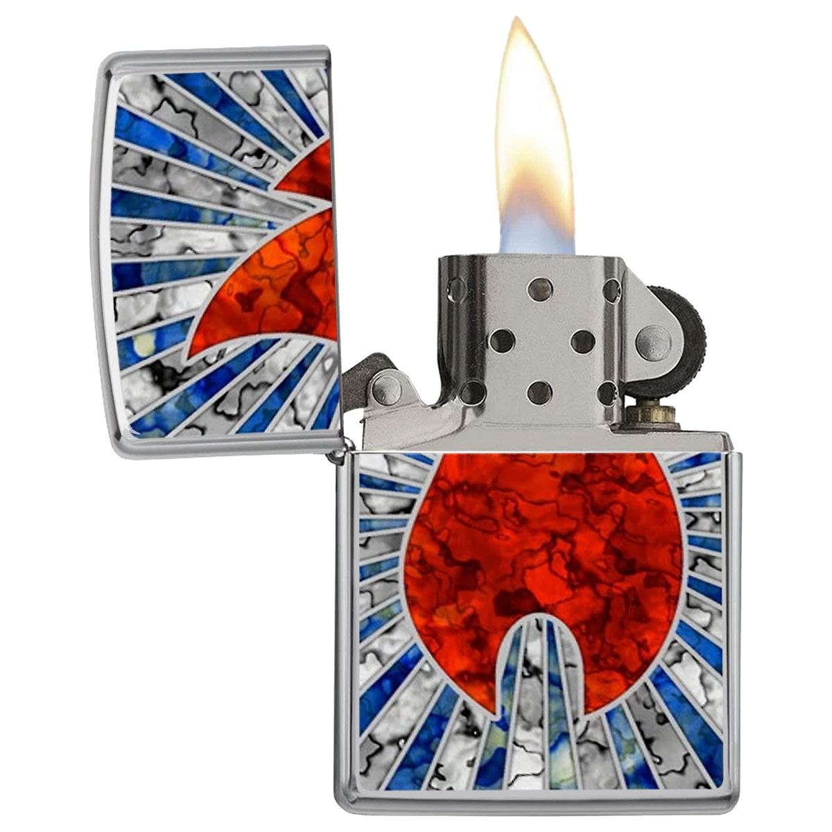 Encendedor ZIPPO Fall Price fighter llama roja