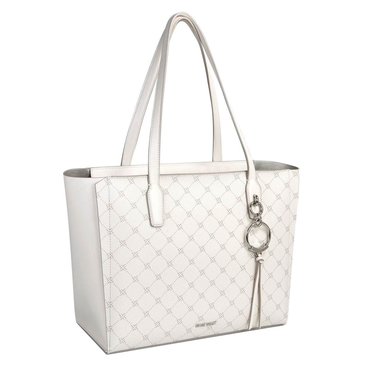 Bolso Nine West tote ivory