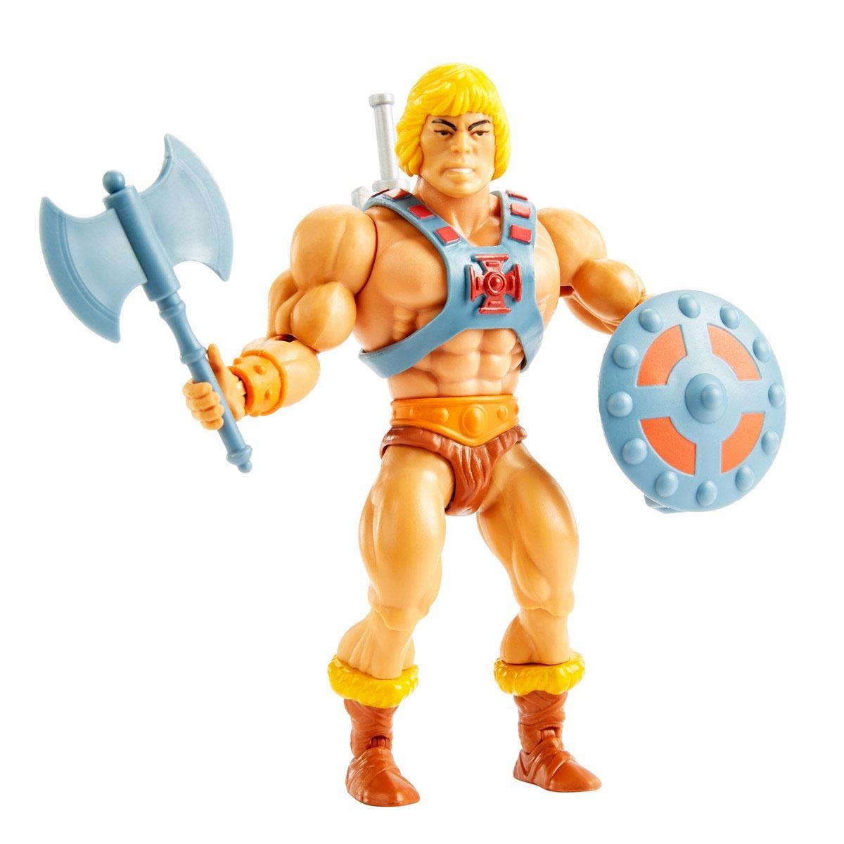 Masters of the Universe Origins, He-Man Cabeza Vintage, Figura de Acción para niños de 6 años en adelante