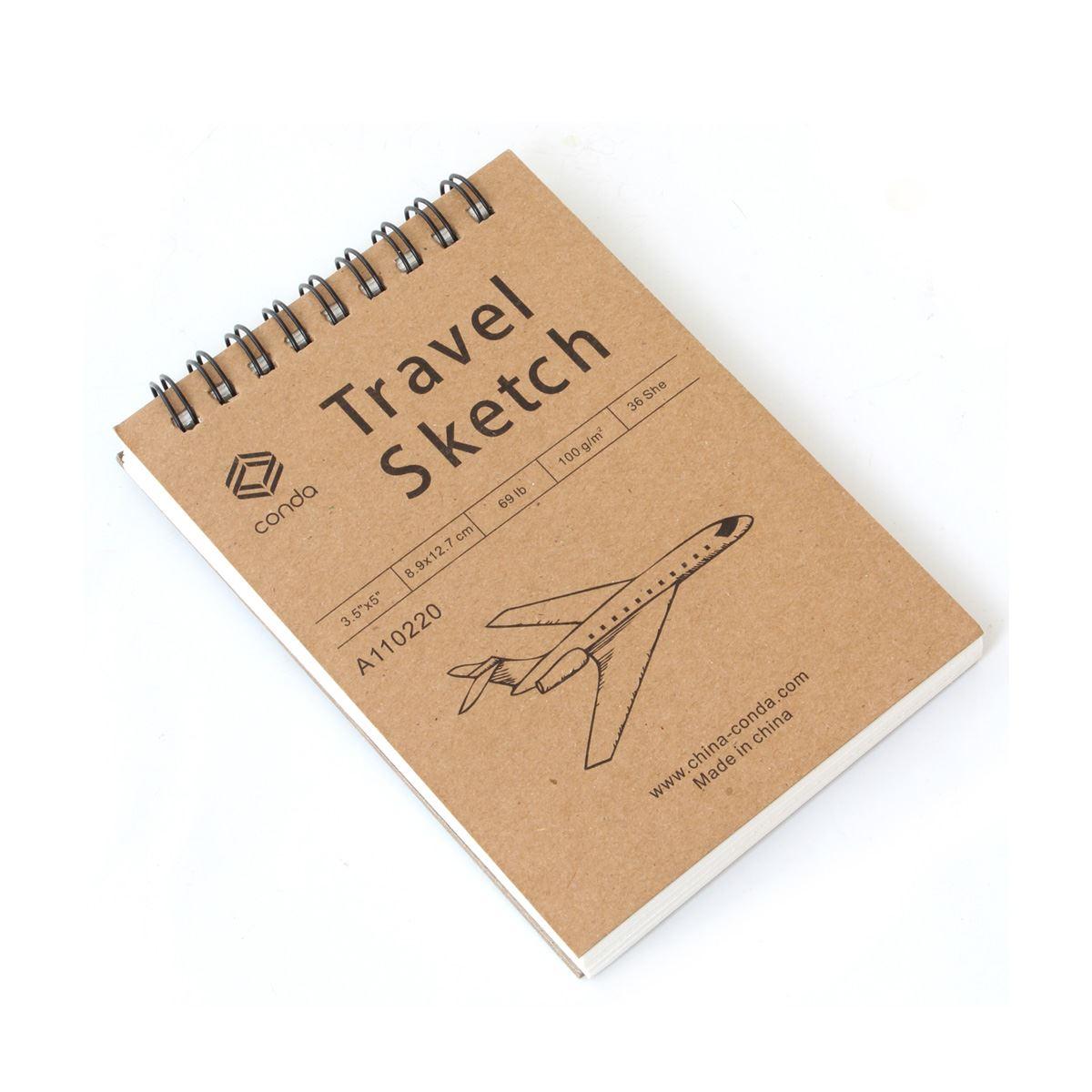 Travel spiral sketche pads 3.5x5 avion  - Sanborns