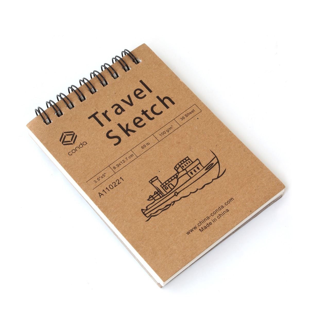 Travel spiral sketche pads 3.5x5 barco