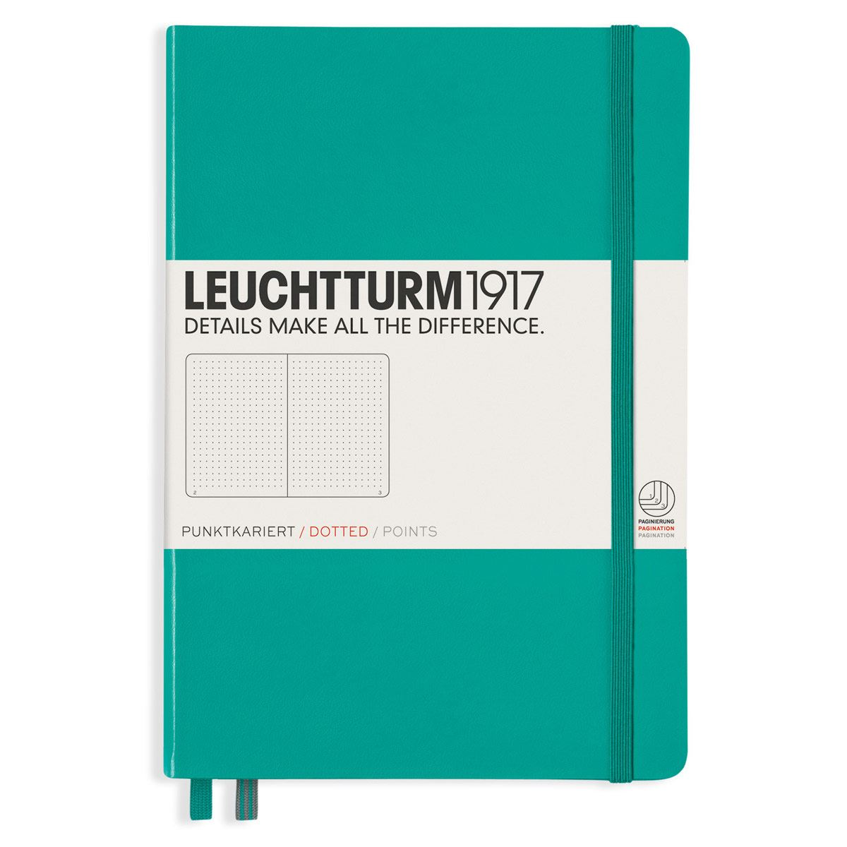 Libreta medium notebook dotted emerald