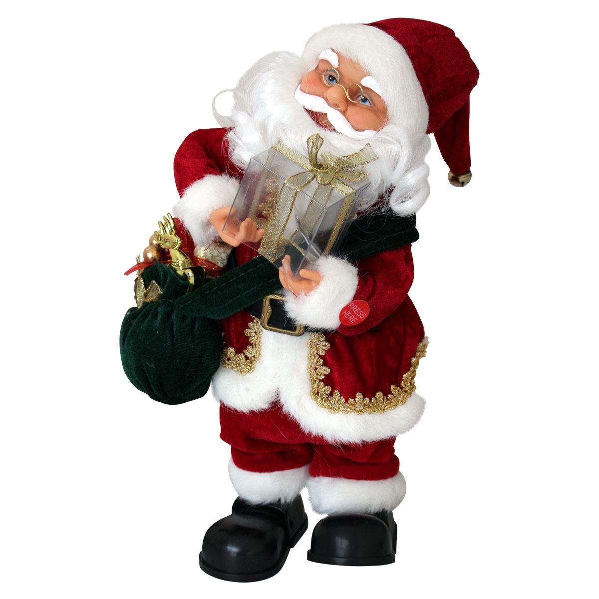 Santa Claus con Regalo de Navidad