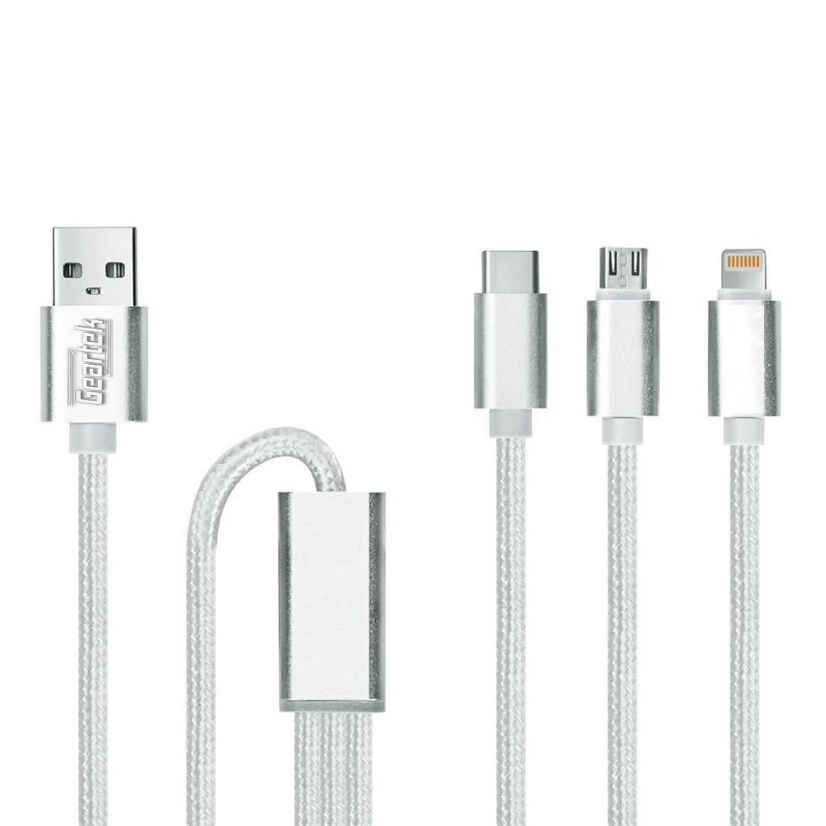 Cable  3 en 1 Micro USB/ Type C / Apple