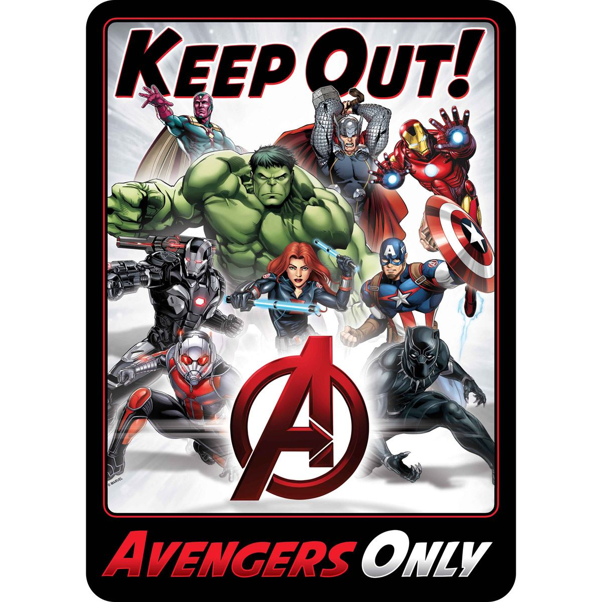Placa de adorno kepp out avengers  - Sanborns