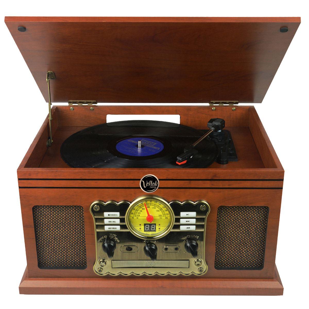 Sistema de sonido todo en uno retro voltak  - Sanborns