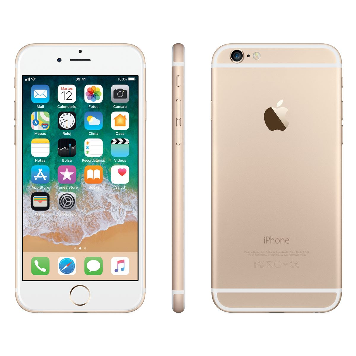 c8e5dfc657c Celular iPhone 6 32GB Color Oro R9 (Telcel)