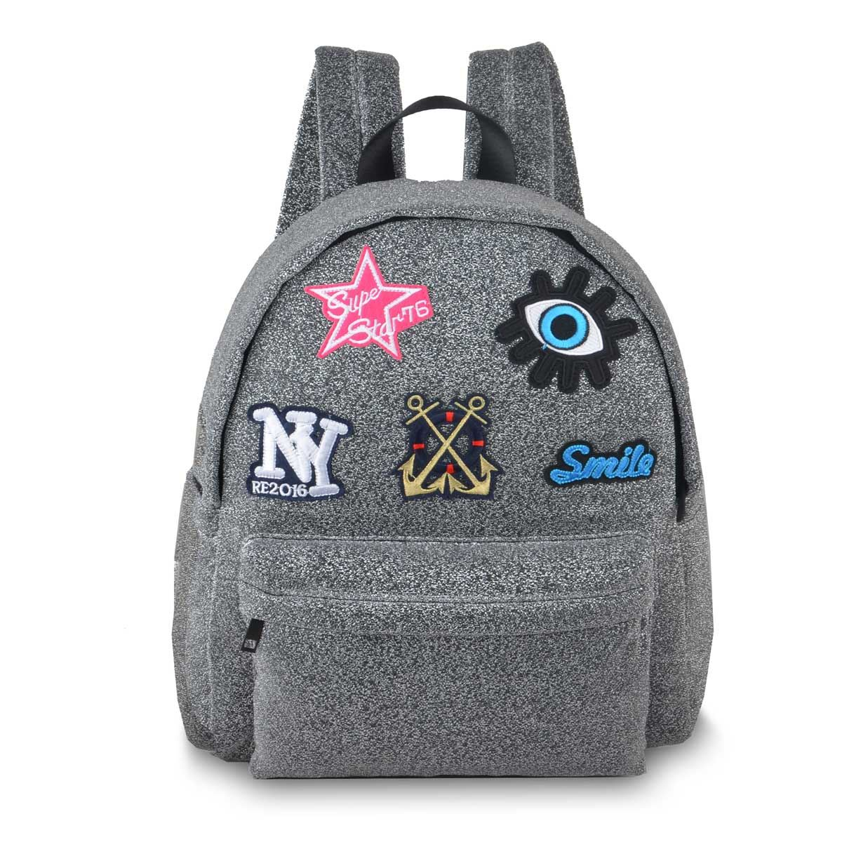 Back Pack Super Star Gris Mb8005 Nuovo