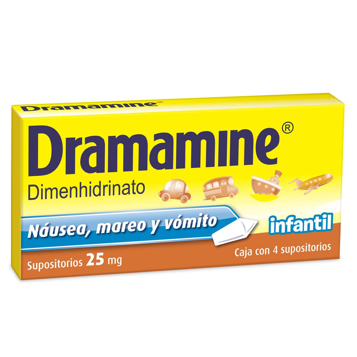 Dramamine supositorio 25mg  - Sanborns