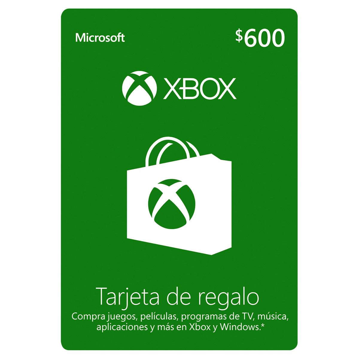 Tarjeta Xbox Live Gold 600