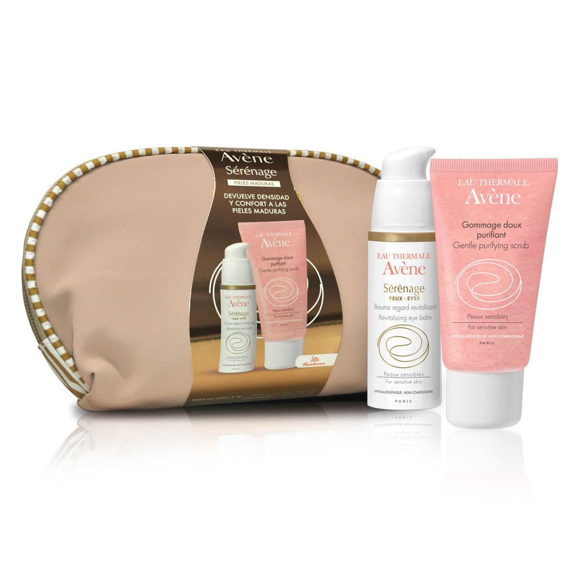 Kit sérénage ojos de 15 ml + crema exfoliante facial de 50 ml de avene  - Sanborns