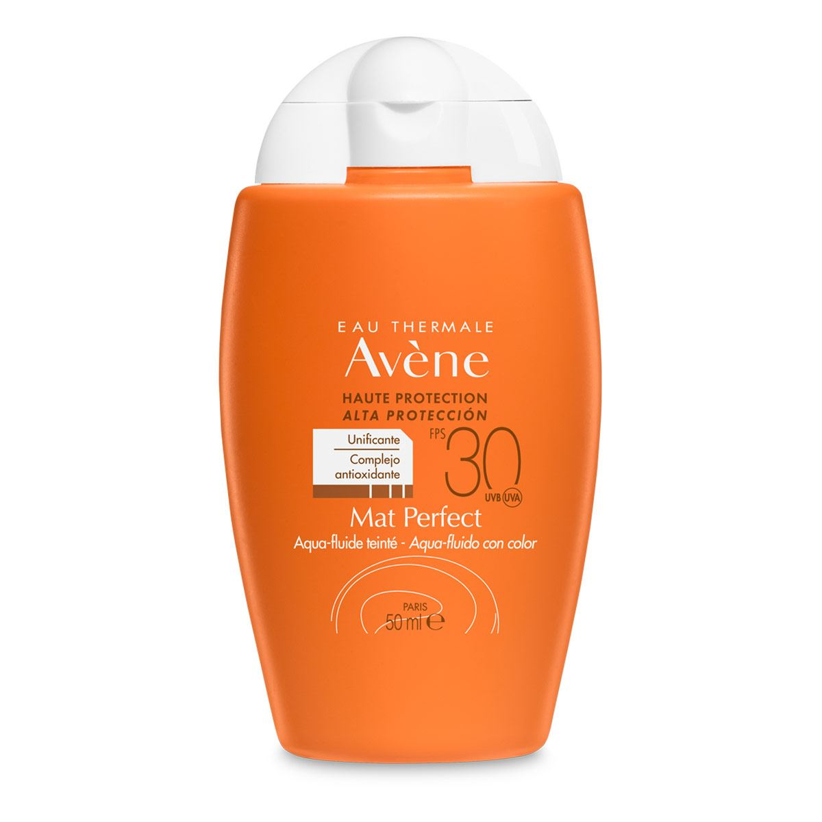Aqua-fluido matificante / antioxidante con fps 30+ con color de 50 ml de avene  - Sanborns
