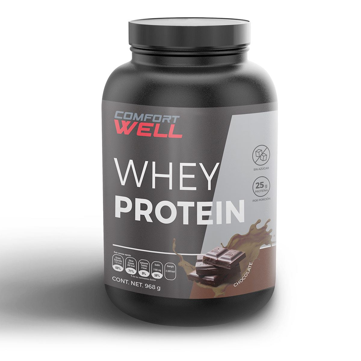 Proteína sabor chocolate (Whey Protein) Comfort Well