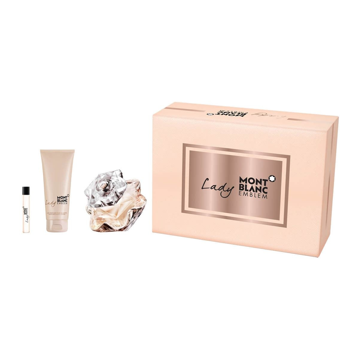 Mont blanc set lady emblem edp 75 ml + rb 7.5 ml + bl 100 ml  - Sanborns