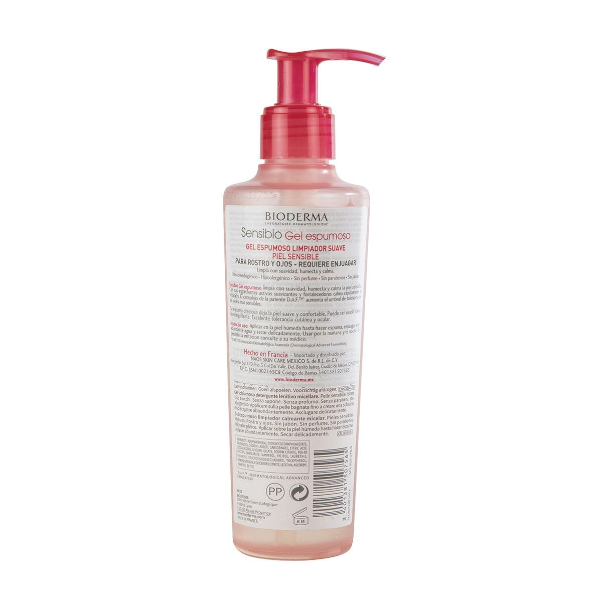 Sensibio gel moussant 200 ml  - Sanborns