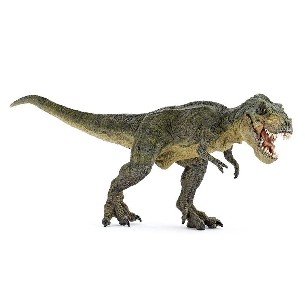 Figura T Rex Corriendo Color Verde Papo