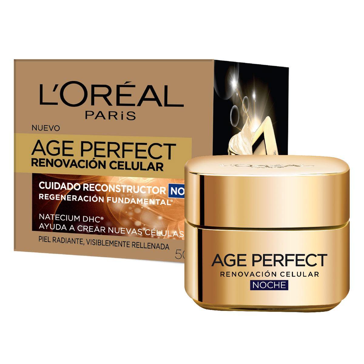 Crema Hidratante Antiarrugas De Noche, Age Perfect L'Oréal Paris, 50ml