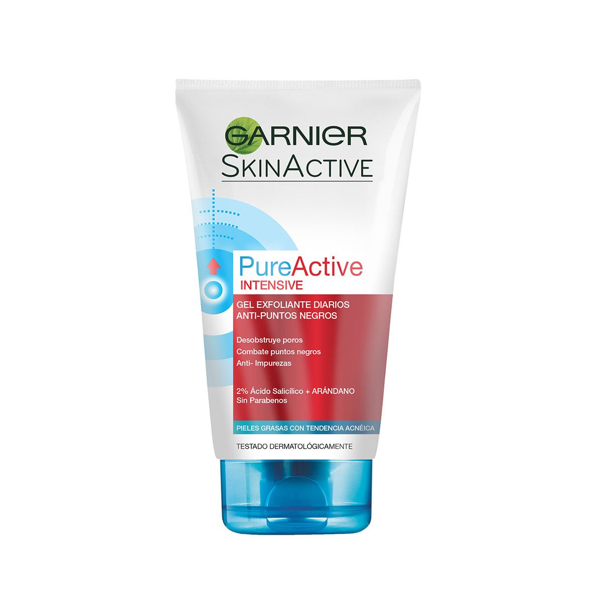 Gel Exfoliante Facial Anti Puntos Negros Pureactive Garnier 150ml