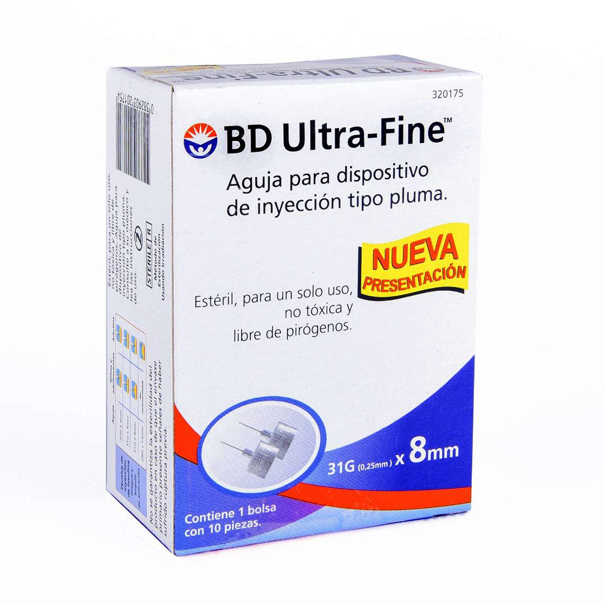 Aguja para Insulina BD Ultra-Fine 31G caja con 10 Pzs.