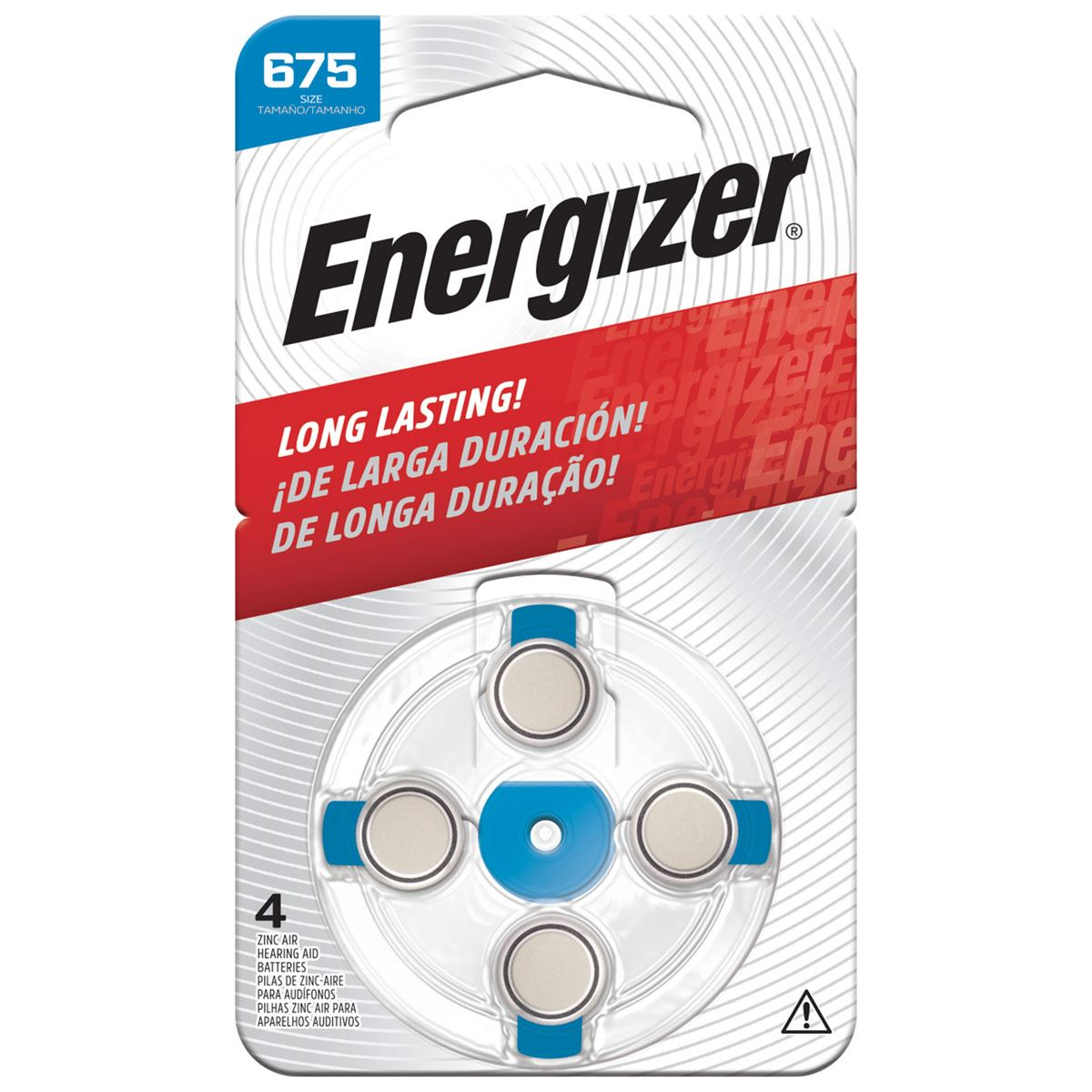 Pila Energizer Especializada Auditiva Ha 675 C/4
