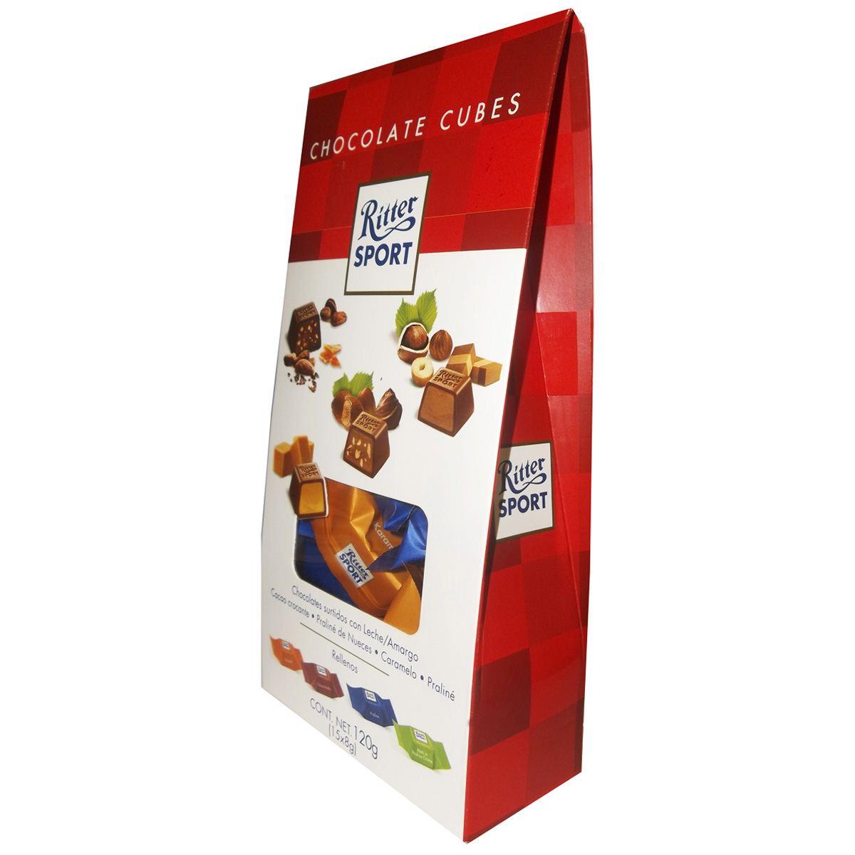 Caja de Choco Cubos con 15 piezas Ritter Sport