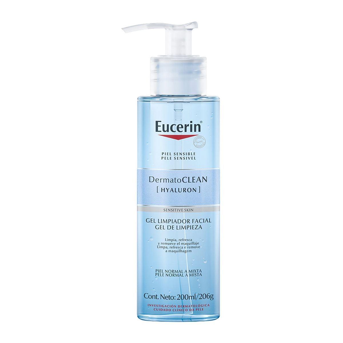 Eucerin Dermatoclean, Gel Facial Limpiador, 200ml