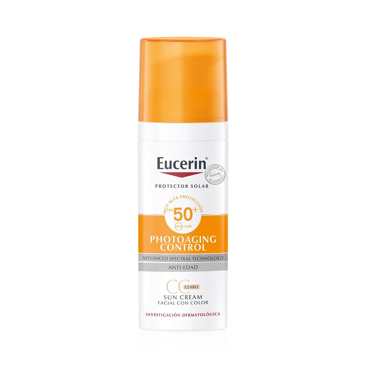 Eucerin  sun cc cream claro spf50+ 50ml  - Sanborns