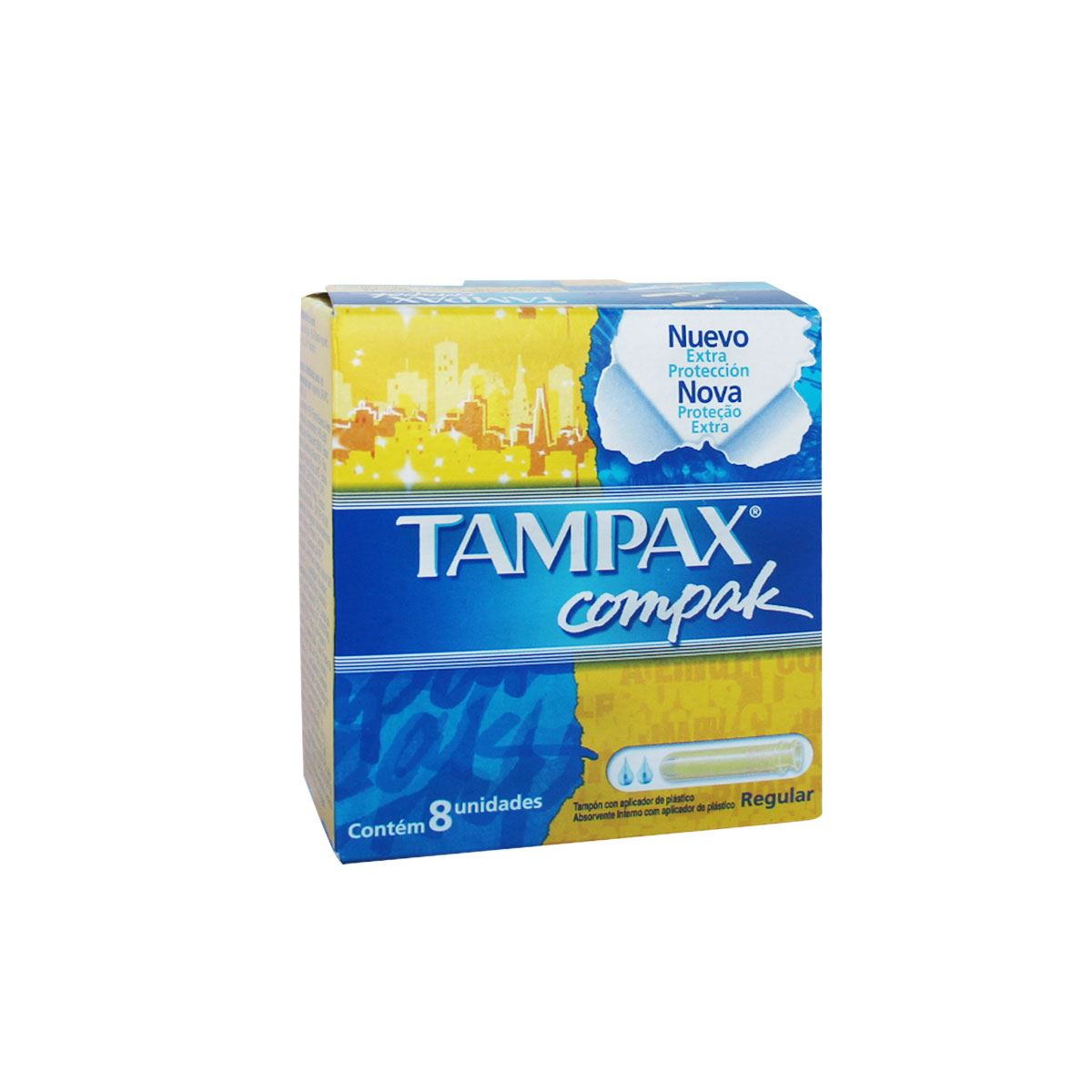 Tampax compak regular c/8  - Sanborns