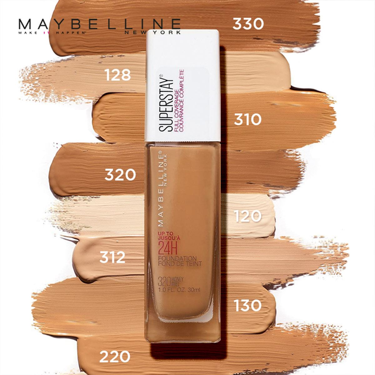 Base Maybelline Superstay Full Coverage 120 Classic Ivory