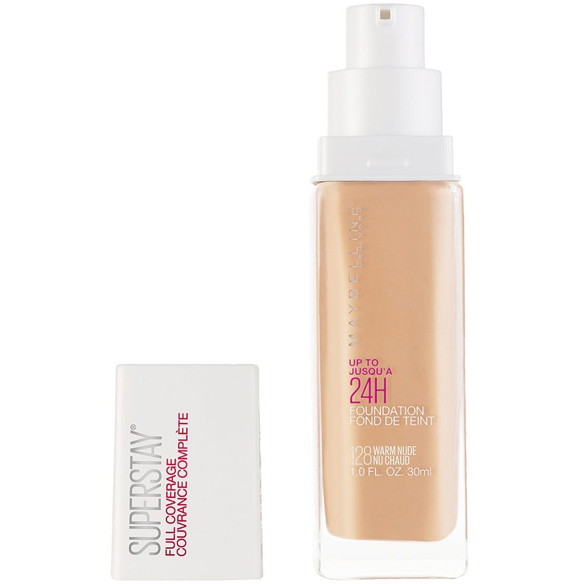 Base Maybelline Superstay Full Coverage 128 Warm Nude