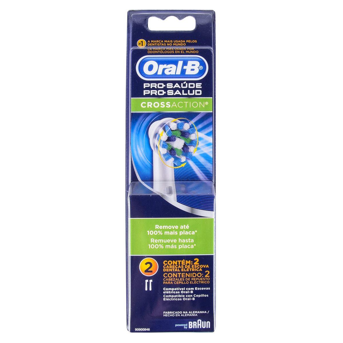 Repuestos de Cepillo Dental Eléctrico Oral-B Cross Action con 2 Pzs.