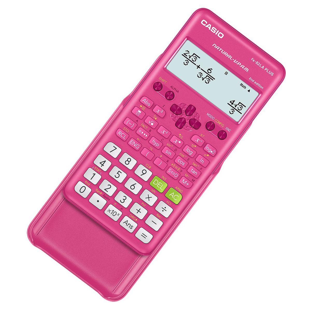 Calculadora Cientifica FX-82LAPLUS2-PKSMT Casio  rosa