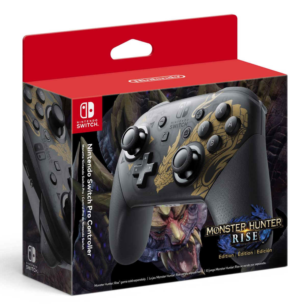 NSW Pro Controller Monster Hunter Rise