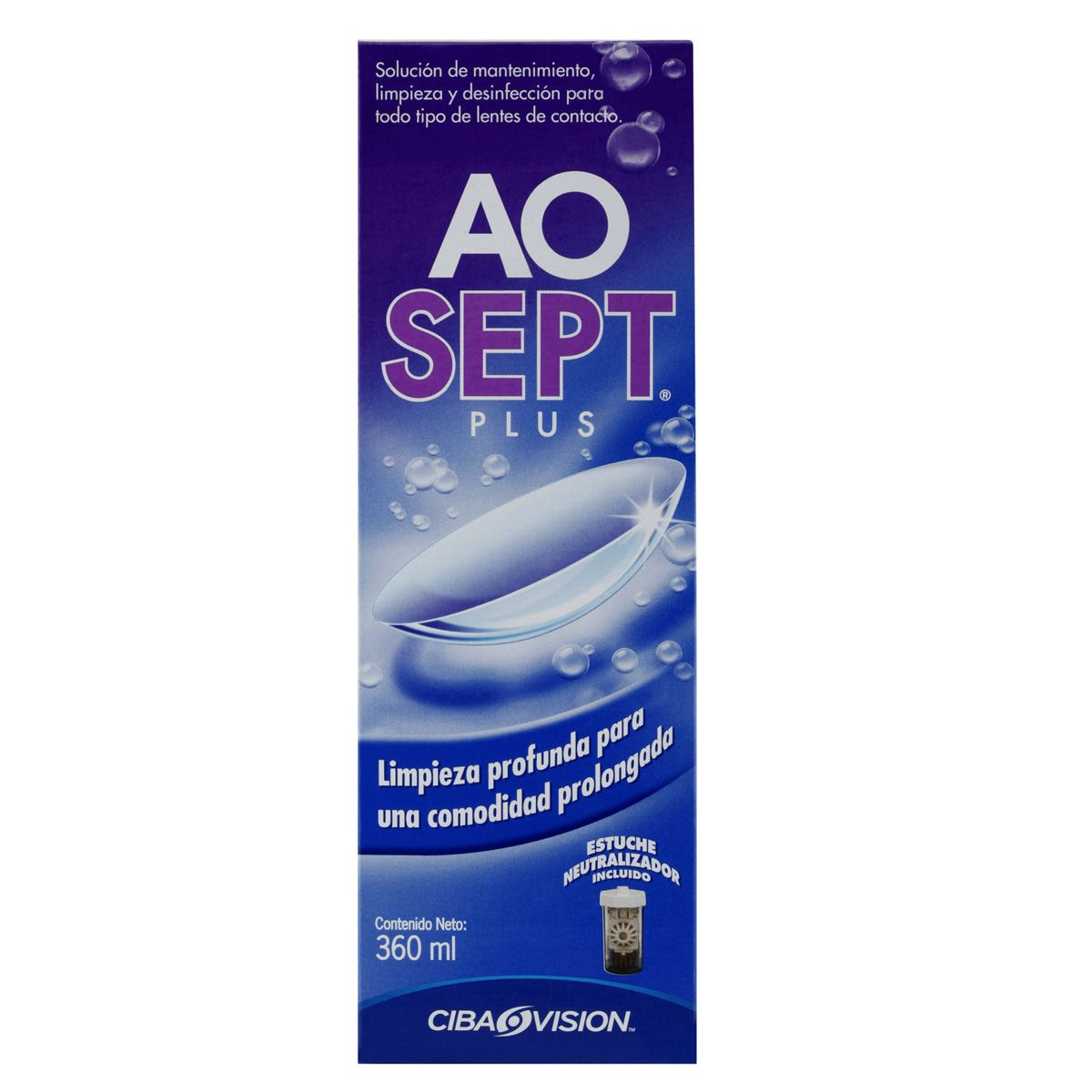 Solución aosept plus 360 ml  - Sanborns
