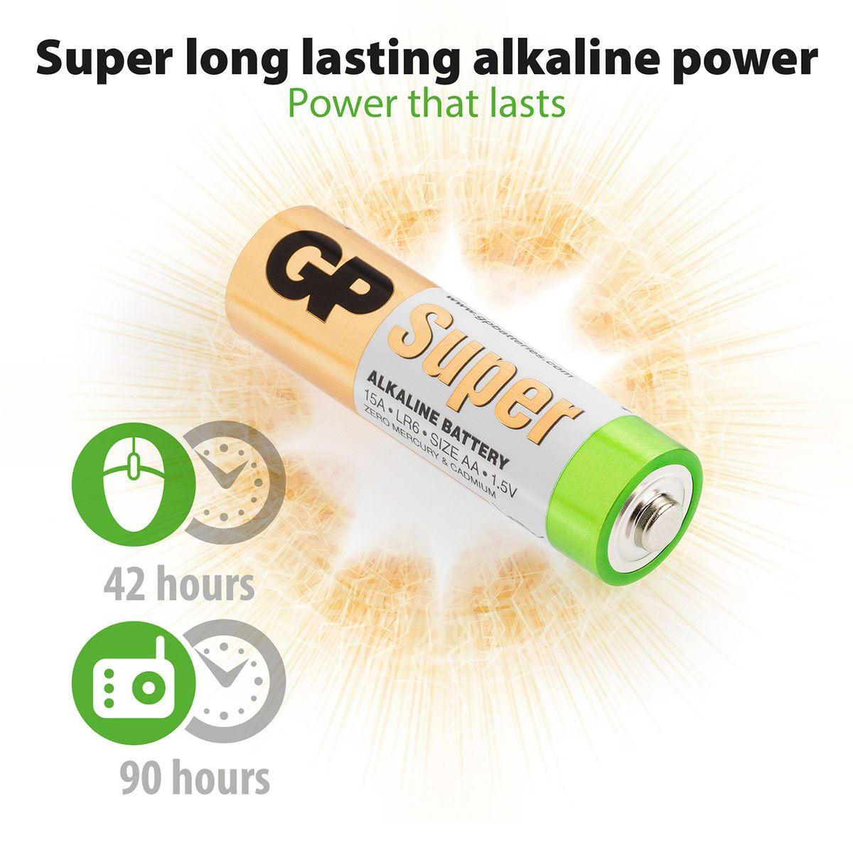 Pila GP Batteries AA (4 pilas)
