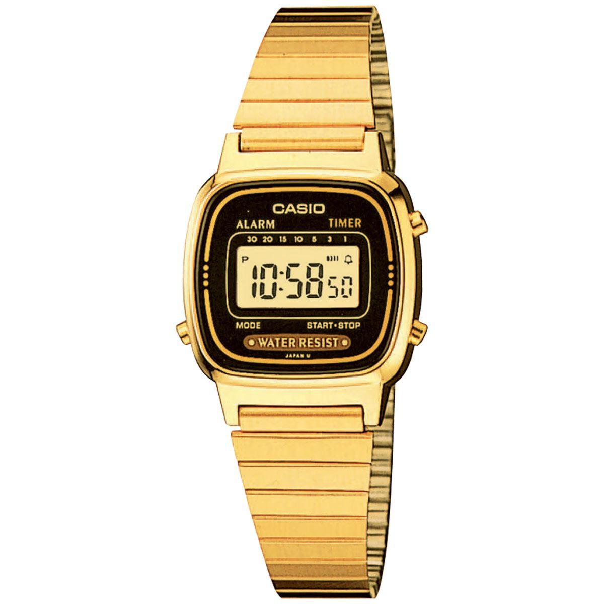 Reloj Casio Vintage LA670WGA-1VT Unisex Dorado Para Caballero