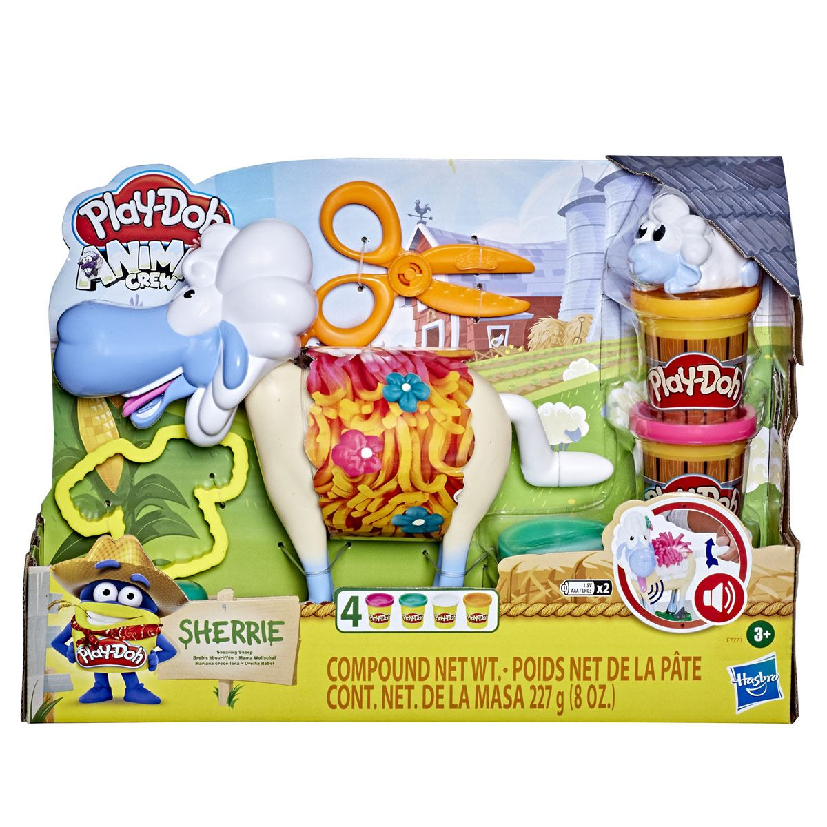 Kit de  juego Play-Doh Animal Crew  Sherrie Oveja de Granja