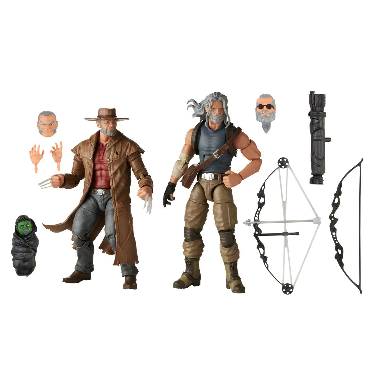 Hasbro Marvel X-Men Series Hawkeye y Logan