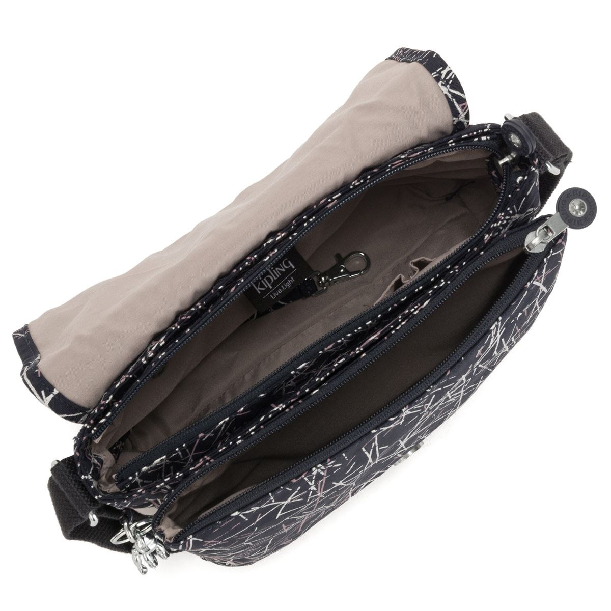 Bolso cross body Kipling negro