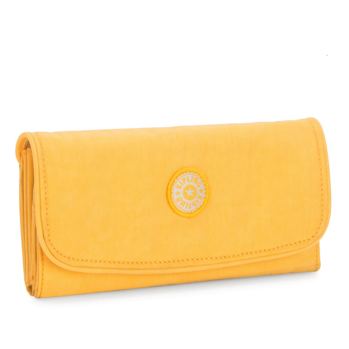 Cartera de broche Kipling money amarilla Para Dama