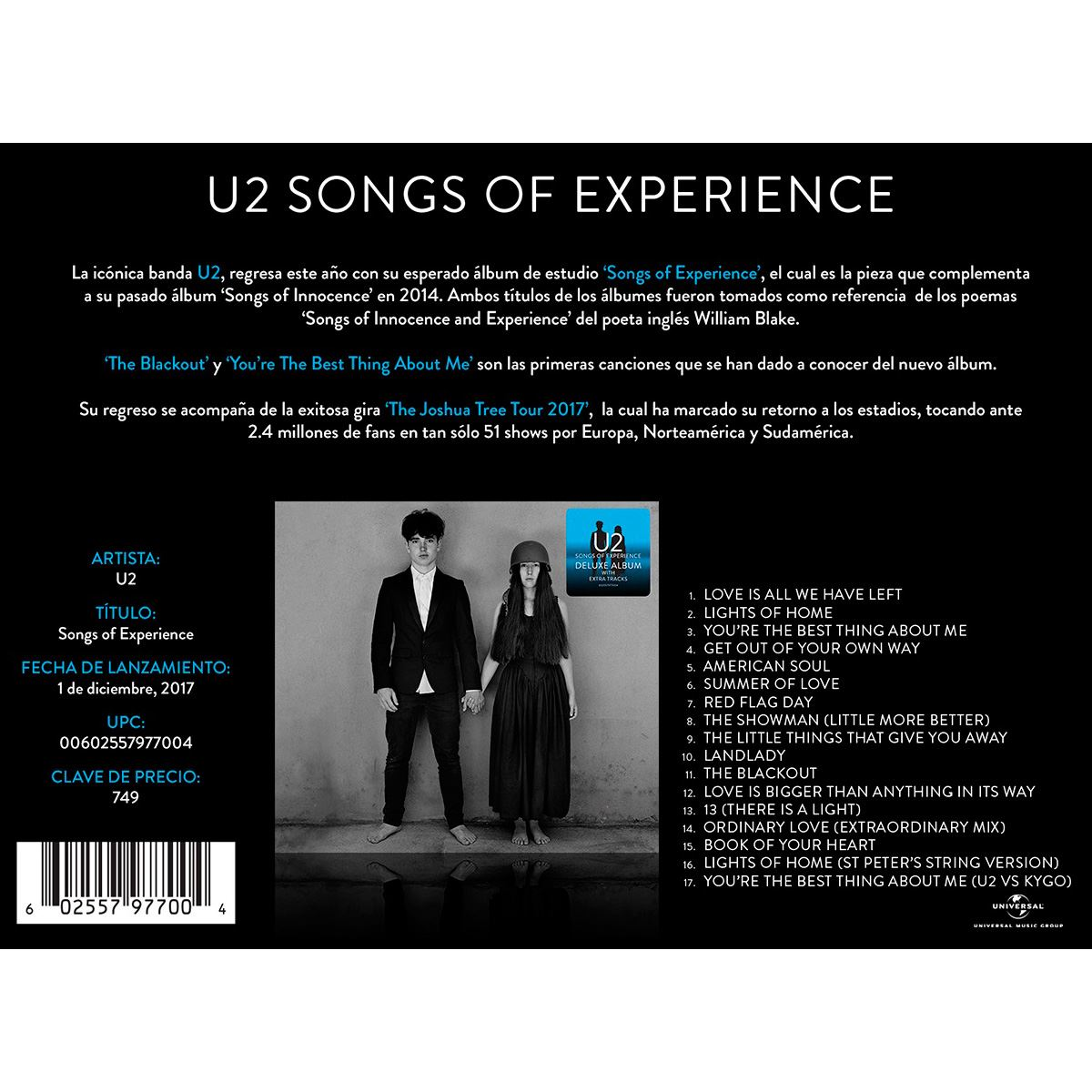 CD U2- Songs Of Experience (Deluxe)