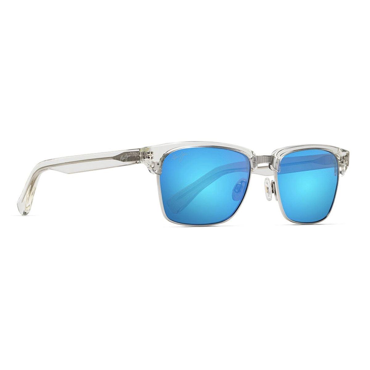 Lente solar Maui Jim armazón transparente mica azul