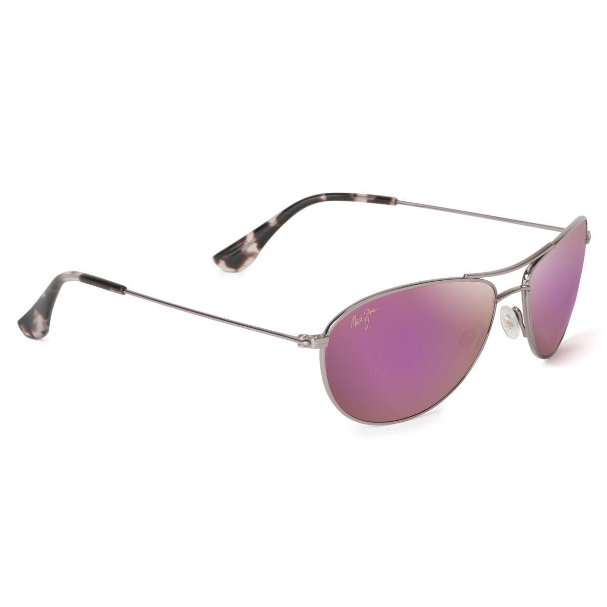 Solar MJ P245-16R Baby Beach clasico con montura en titanio y Lente Maui Pure color Rosa