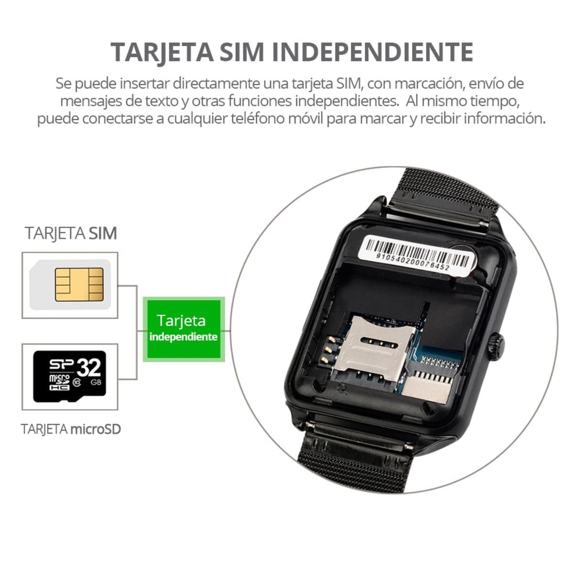 Smartwatch RedLemon SIM Independiente Negro