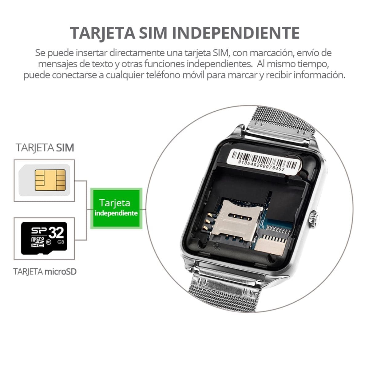 Smartwatch RedLemon SIM Independiente Plateado